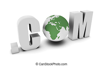 Dot Com of a Global Website on the Internet