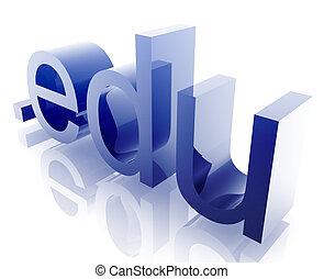 Dot edu internet - Internet dot edu word graphic, with metal...