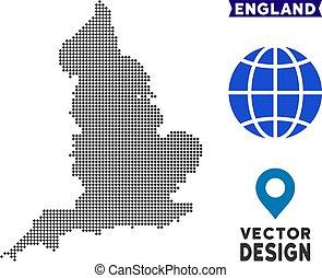 Dot England Map