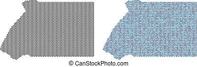 Dot Equatorial Guinea Map Abstractions - Circle dot...