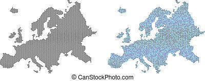 Dot Europe Map Abstractions