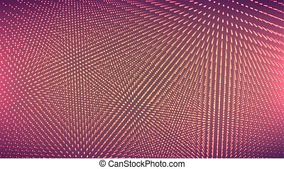 Dot Glowing Background. Techno Concept Abstract Space. Technology Digital Concept. Vector Illustration