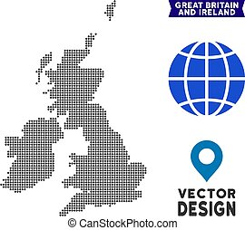 Dot Great Britain And Ireland Map