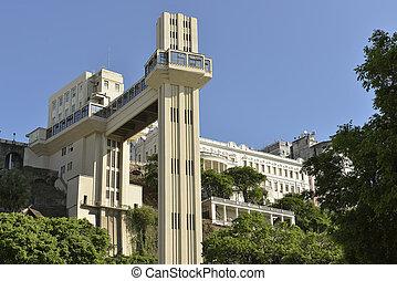 dot in Salvador Bahia Brazil called Lacerda Elevator