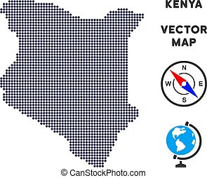 Dot Kenya Map