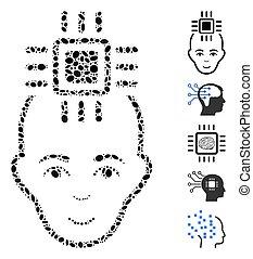Dot Mosaic Neural Computer Interface