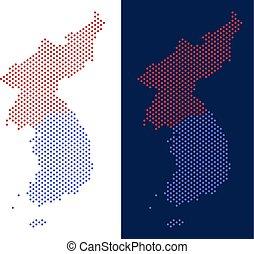 Dot North And South Korea Map
