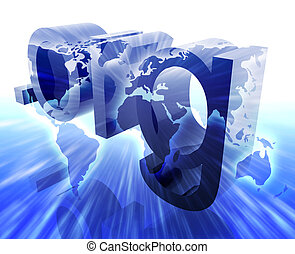 Dot org internet web url worldwide illustration