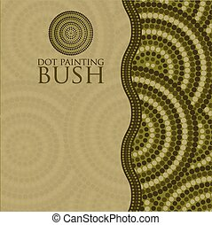 Dot painting invite/ greeting card in vector format.