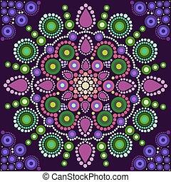 Dot painting meets mandalas 2. Aboriginal style of dot...