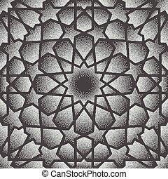 Dot pattern.Islamic ornament vector , persian motiff . 3d...