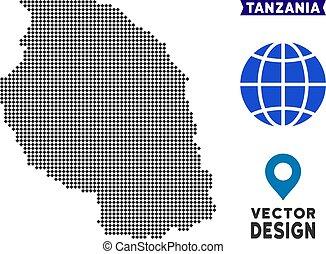 Dot Tanzania Map