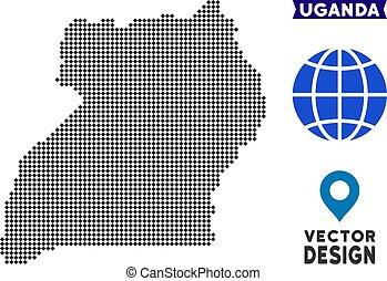 Dot Uganda Map