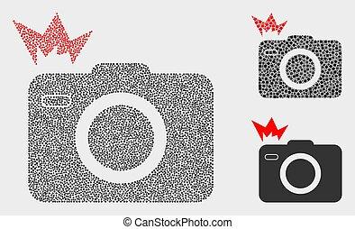 Dot Vector Photo Flash Icons - Pixel and mosaic photo flash ...