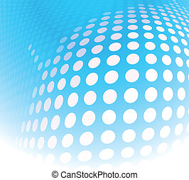 dots abstract blue
