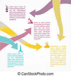 Dots arrows for industrial infographics. - Dots arrows for...