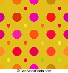 Dots Background - Multi colored dots pattern that tiles ...