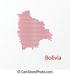 Dots Bolivia Vector Geographical Map