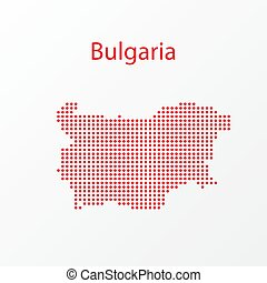 Dots Bulgaria Vector Geographical Map