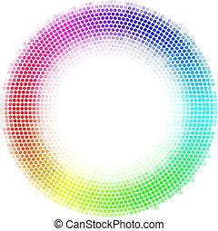 Dots digital form - Equalizer multicolor dots digital in...