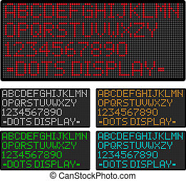 dots display - Vector display showing dots alphabet and ...