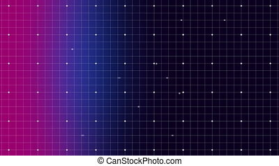 Dots moving on a grid