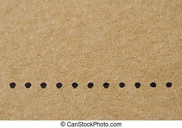 Dots on the Cardboard