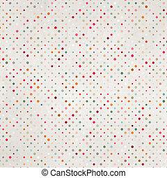 dots., polka, eps, versleten, papier, 8, oud