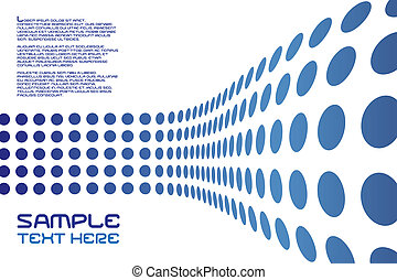 Dots Wall Layout - An abstract design template with sample ...