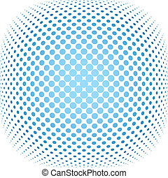 dotted, achtergrond, halftone