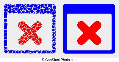 Dotted and Flat Vector Close Application Window Icon