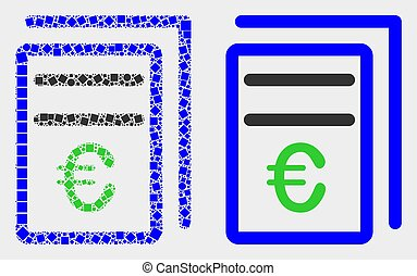 Dotted and Flat Vector Euro Price Pages Icon