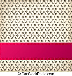 Dotted background design with 3d effect and ribbon