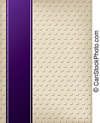 Dotted background with purple ribbon