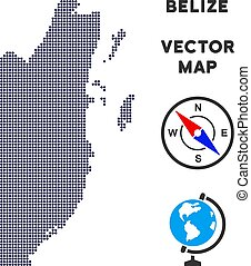 Dotted Belize Map