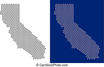 Dotted California Map