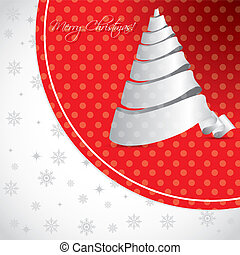 Dotted christmas background design with white tree
