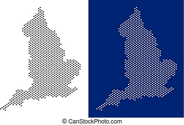 Dotted England Map