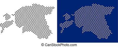 Dotted Estonia Map
