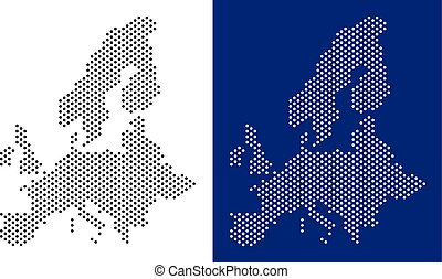 Dotted European Union Map