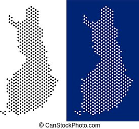 Dotted Finland Map