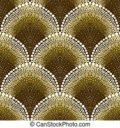 Dotted geometric pattern in art deco style - Dotted...