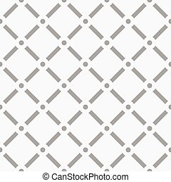 Dotted grid mesh pattern. Squares with circle nodes. (...