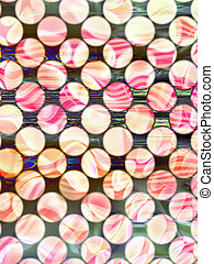 abstract background with half tone pattern. Rose coloured image behind