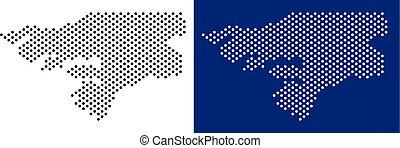 Dotted Guinea-Bissau Map - Dotted Guinea-Bissau map. Vector...