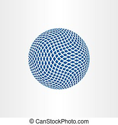 dotted halftone globe earth icon vector