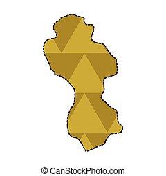 Dotted line map of Guyana. Vector illustration design