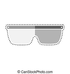 Dotted line protection glasses icon. Medical biosecurity ...