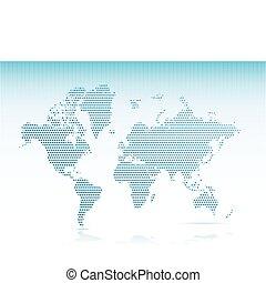 dotted map illustration design