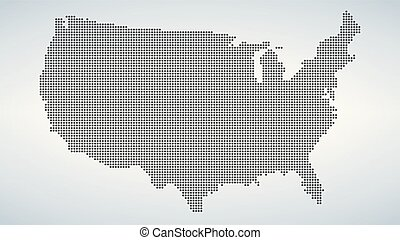 Dotted map of USA, vector illustration isolated on white background